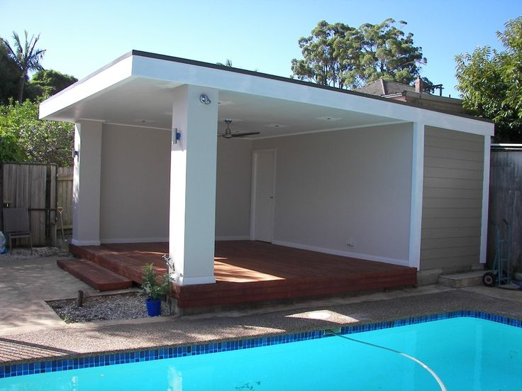 two post steel pool shelter - Google Search