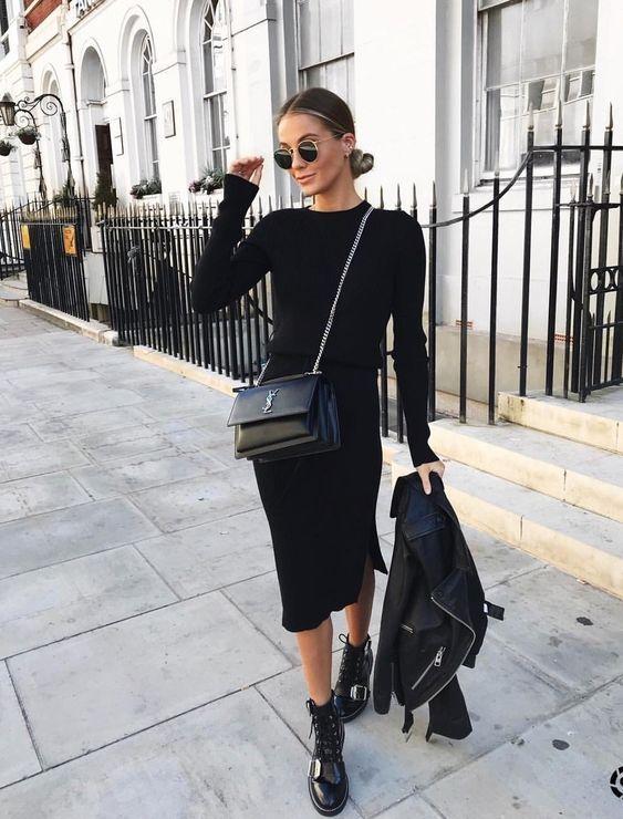 Alle schwarzen Outfit-Ideen für diese Woche