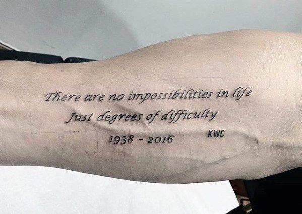 Tattoo sprüche männer arm Grosse Auswahl