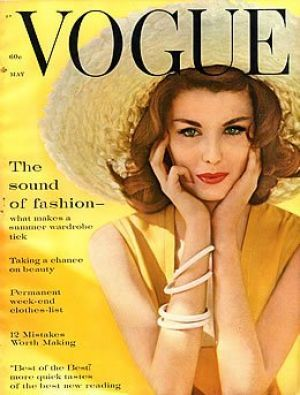 Vintage Vogue magazine covers - mylusciouslife.com - Vintage Vogue May 1960 - Dorothea McGowan.jpg