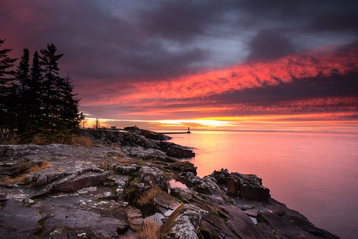 ***Sunset (coast of Lake Superior, Minnesota) by Nance Knauer on 500px