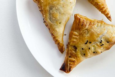 Curried lamb and chickpea pasties