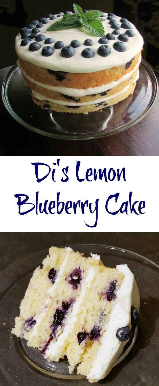 Di's Lemon Blueberry Cake | Cream cheeses, It is and Lemon ...