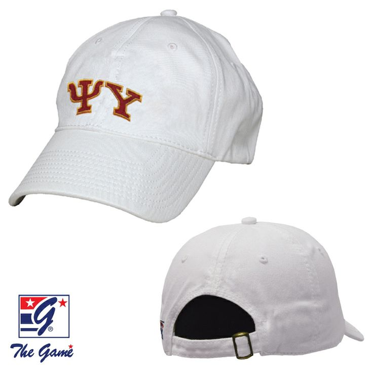 Psi Upsilon White Greek Letter Adjustable Hat by The Game®
