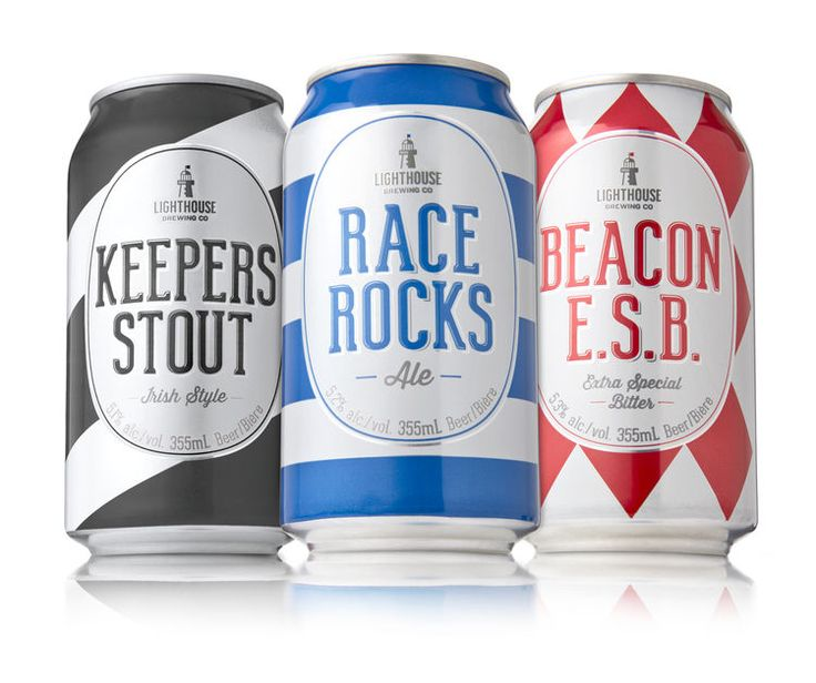 The Beer Cans From the Lighthouse Brewing Company are Sea Themed #drinking trendhunter.com