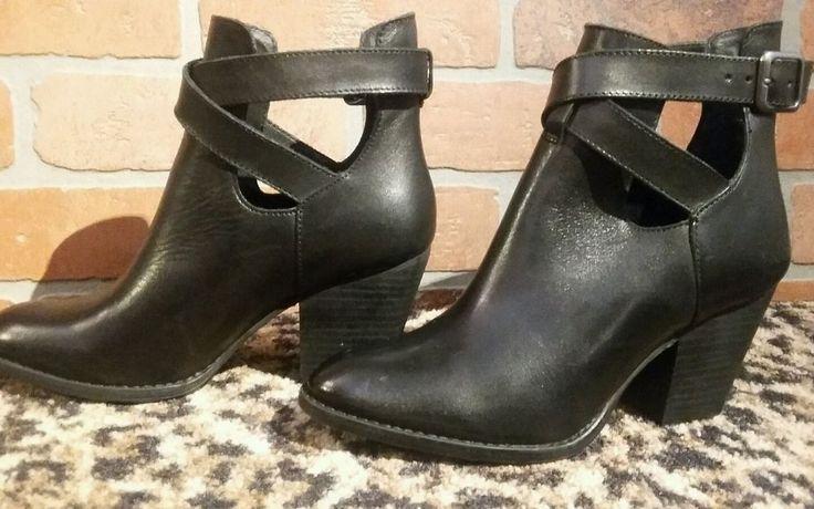 Was $129 = Now $19 #Reba KC Buckled Shooties Womens Ankle Boots Black Biker Western Cowboy NEW 6 M #Reba #AnkleBootsShootie #Casual