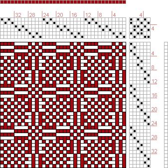 Hand Weaving Draft: Page 183, Figure 1, Orimono soshiki hen [Textile System], Yoshida, Kiju, 6S, 6T - Handweaving.net Hand Weaving and Draft...