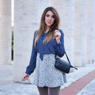 Italian fashion blogger wearing a preppy outfit featuring Forever 21 clothes and Chanel Bag