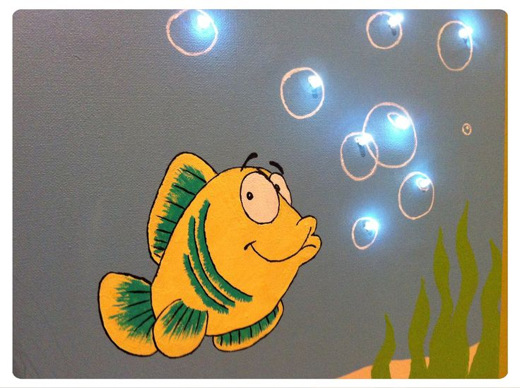 Toile lumineuse poisson mes cr ations de toiles lumineuses pinterest toile - Toile lumineuse enfant ...
