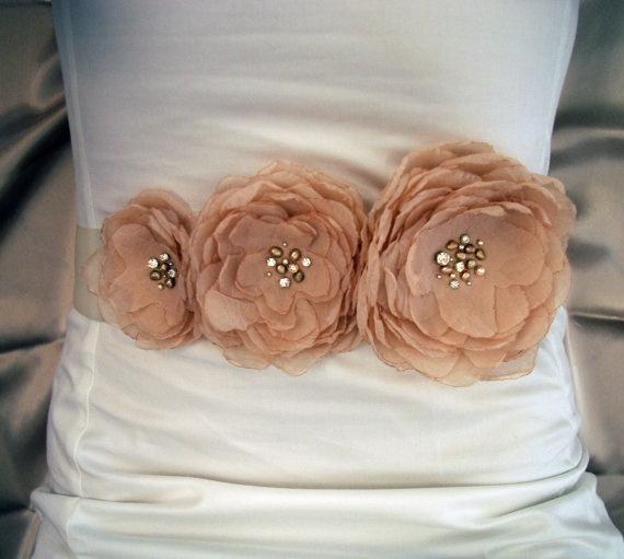 Wedding Dress Sash Belt By Nia Person