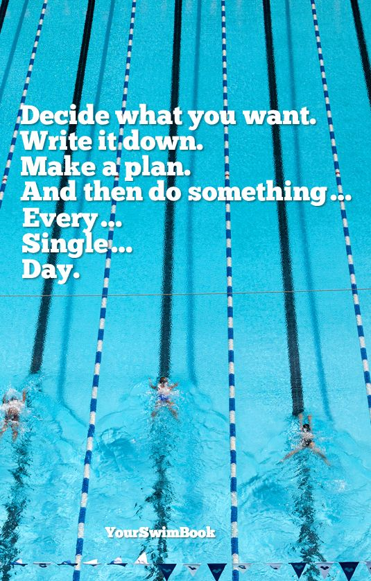 Quot Decide What You Want Quot Motivational Swim Poster 29