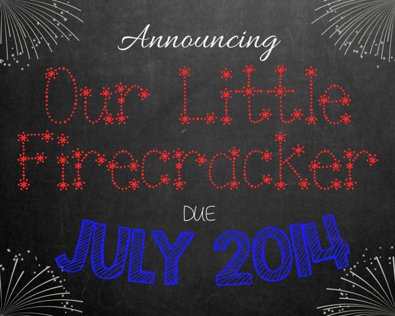 Chalkboard Pregnancy Announcement for Baby Due in by MMasonDesigns, $15.00