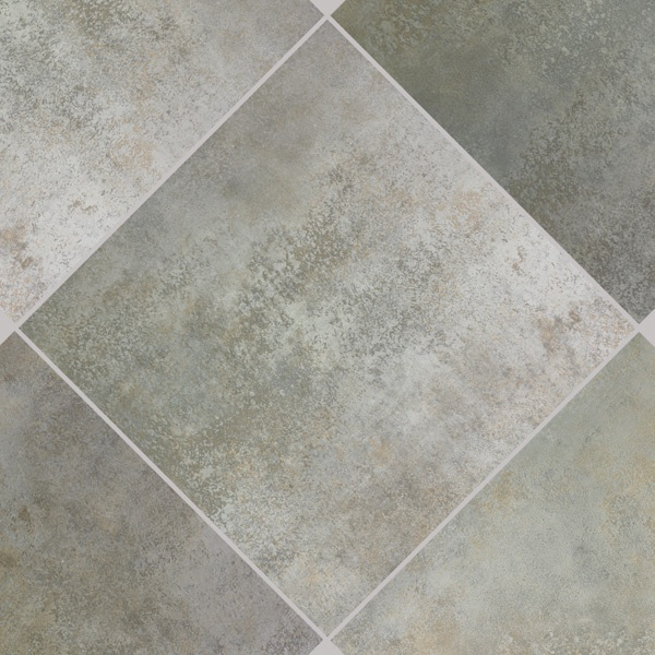 Kitchen Backsplash - Mediterranea glazed porcelain tile in Titanium Silver