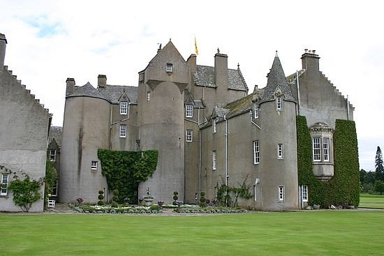 Abergeldie Castle, Scotland.  Kittie Rankie was burnt as a witch at the top of a nearby hill. Her ghost haunts the castle and the surrounding land.