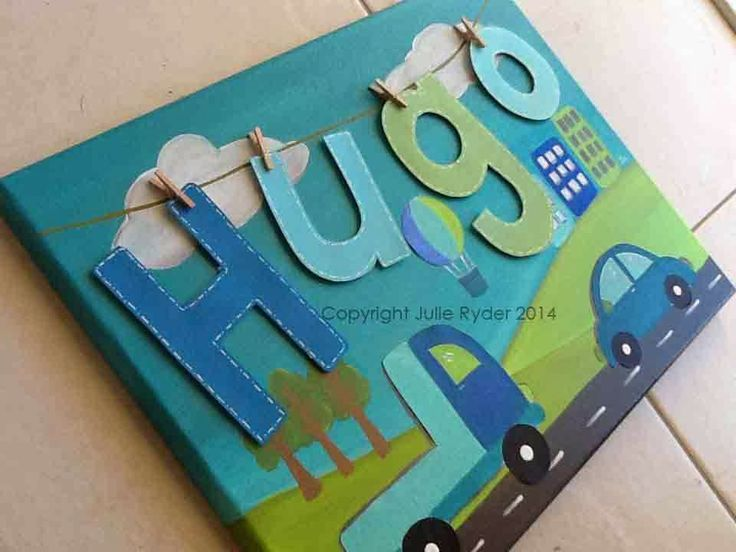 Made-By-Me....Julie Ryder: Personalised Canvas wall art for Boys and Girls….....