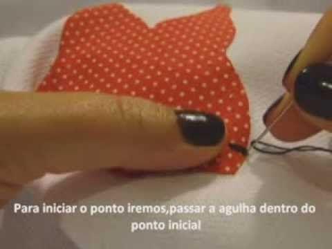 ▶ Como fazer ponto caseado a mão,rápido e fácil! - YouTube