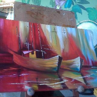 Barcas amarradas en puerto
