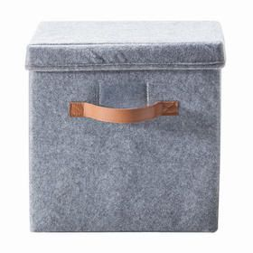 Felt Storage Box with Lid -  Kmart $6