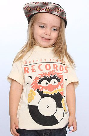 The Kids Muppet Studios Tee in Eggshell by Junkfood Clothing