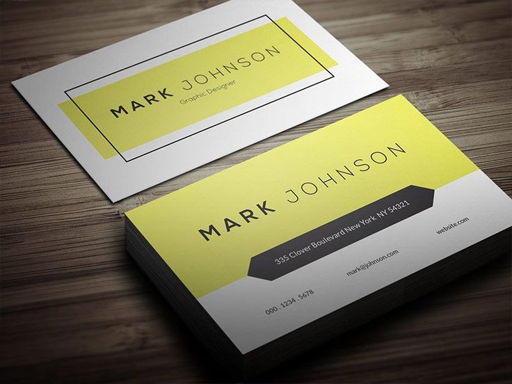 Free Clean Individual Business Card Template