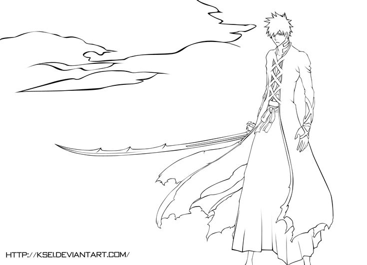 25 best ideas about ichigo bankai on pinterest bleach for Ichigo coloring pages