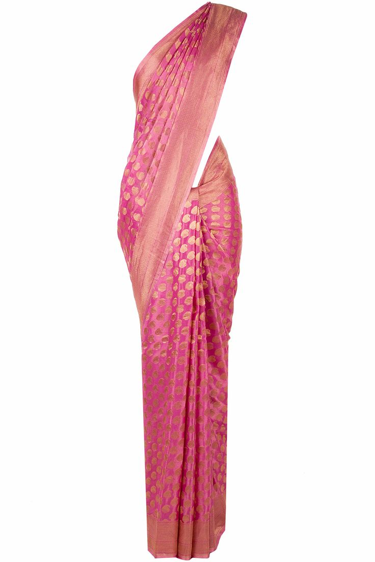Pink and gold paisley sari available only at Pernia's Pop-Up Shop.