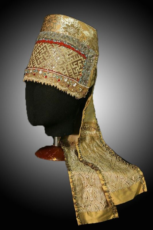 Повязка девичья праздничная. Повязка - девичий нарядный головной убор у народов Восточной Европы в виде широкой ленты, украшенной вышивкой, бисером и т.п.