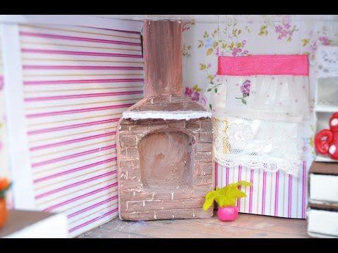 Видеоурок: камин для кукольного домика - Ярмарка Мастеров - ручная работа, handmade