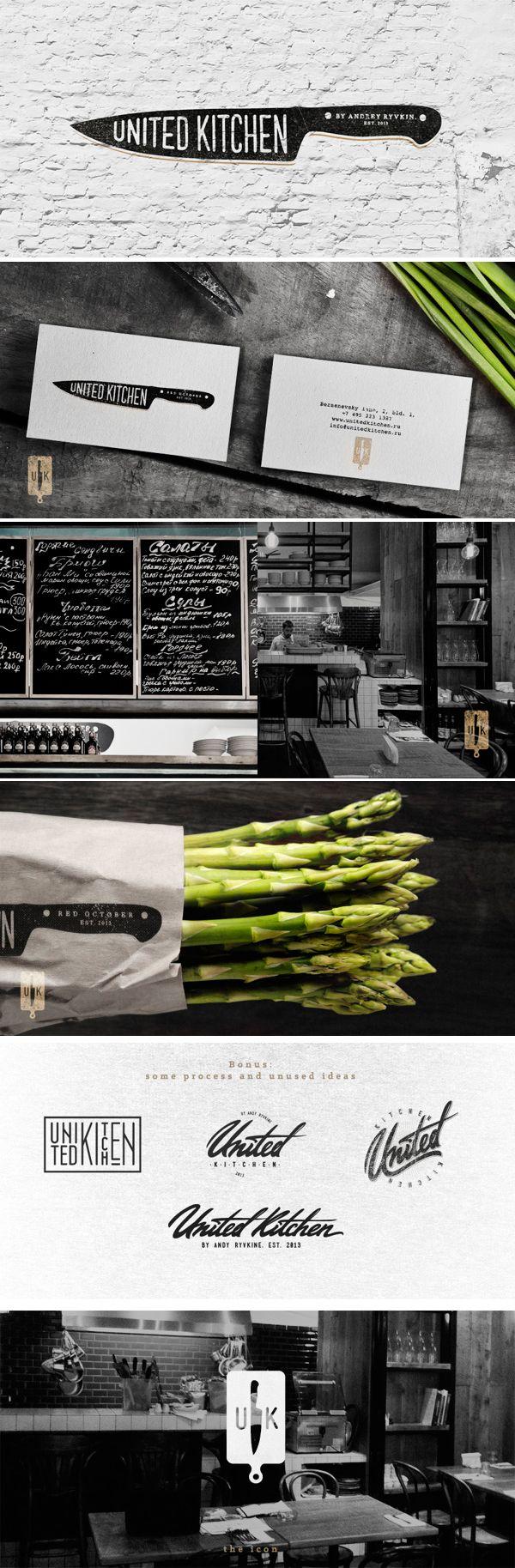 United Kitchen. #restaurantgraphics #typography