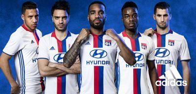camisetas de futbol online 2018: Camisetas de futbol Lyon Primera 2017