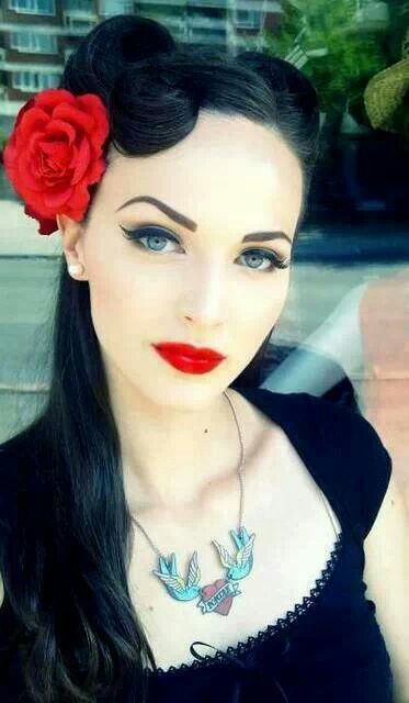 really cute hair styles 68 best rockabilly style images on retro hair 1238 | ba04b399312b4a65a667e13e1238e162 retro hairstyles pin up girl