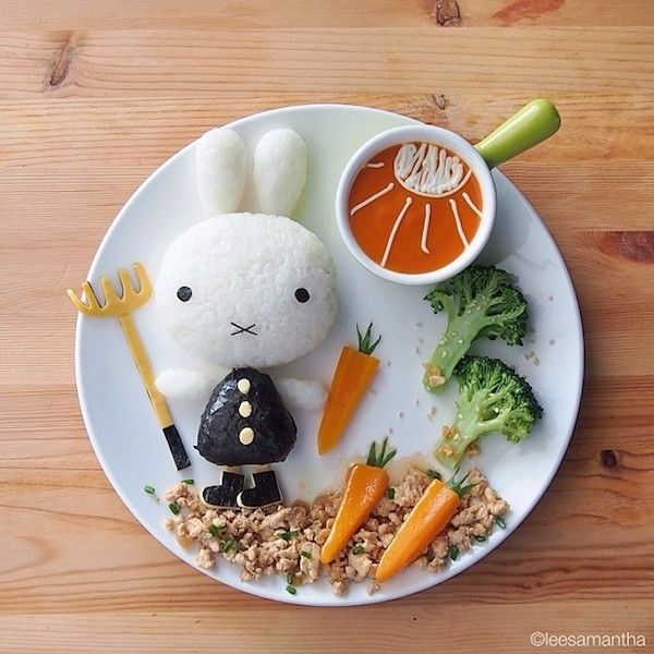 This Mom Turns Her Kidsu0027 Food Into Awesome Plates Of Art (Photos) | & 15 best Food: Plate decoration images on Pinterest | Creative food ...
