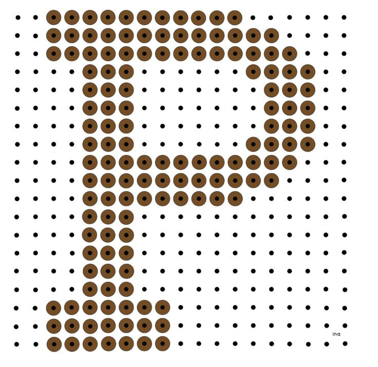 Kralenplank: Chocoladeletter