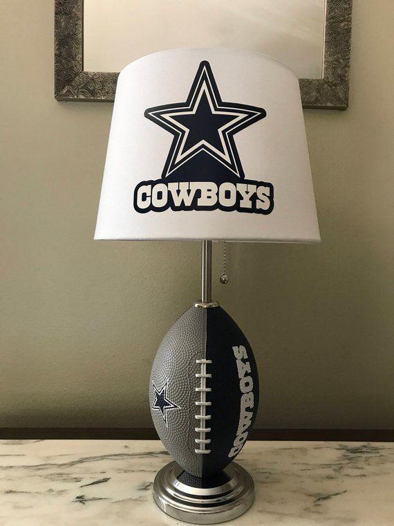 Dallas Cowboys Football Lamp Nfl Sports Team Made By Dallas Cowboys Decor Dallas Cowboys Bedroom Kids Dallas Cowboys Room Decor