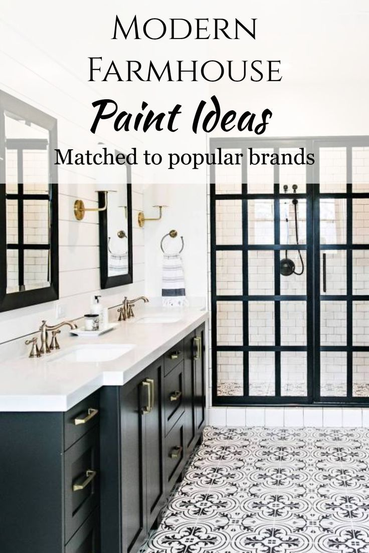 Room Redo Modern Farmhouse Bathroom Paint Color Combinations With Images Traditional Bathroom Modern Farmhouse Bathroom Bathroom Interior Design