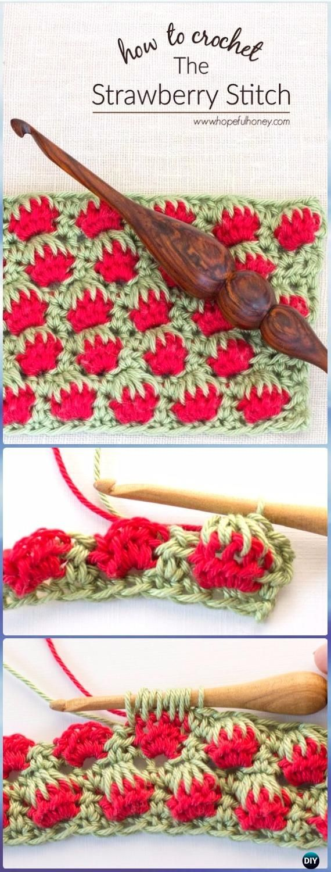 Easy Crochet Strawberry Stitch Free Pattern-Crochet Strawberry Stitch Free Patterns