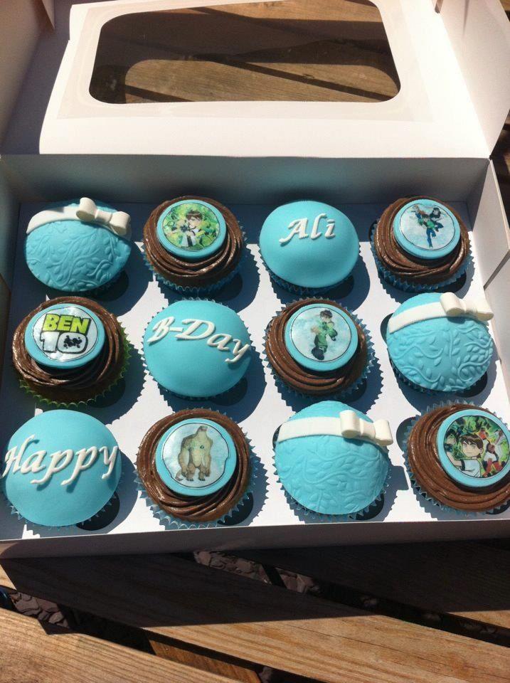 Bday boy cupcakes