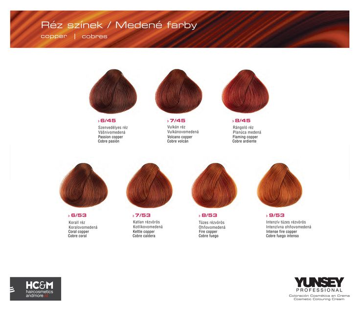 Yunsey Hair Color Coppers.