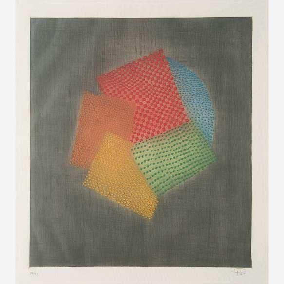 Arthur Luiz Piza<br>Gravura em metal<br>47,5 x 45,5 cm.