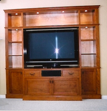 Cherry_built-in_entertainment_center