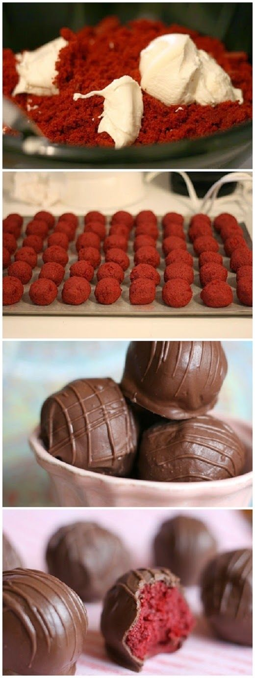 Red Velvet Cake Balls #delicious #recipe #cake #desserts #dessertrecipes #yummy #delicious #food #sweet
