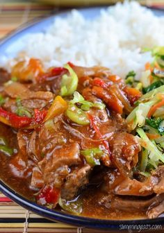 Slimming Eats Slow Cooked Chinese Style Pork Tenderloin - dairy free, Slimming World (SP) and Weight Watchers friendly