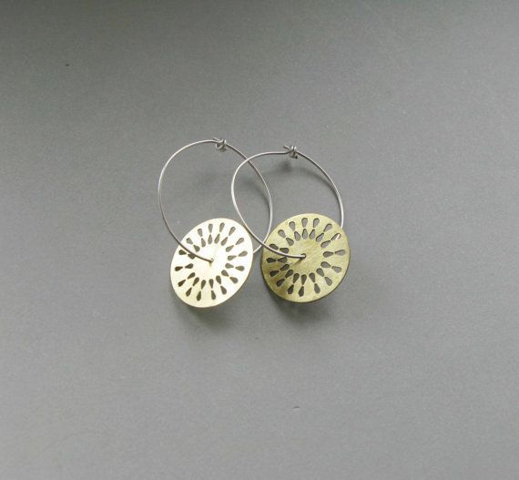 Disk+Hoop+Earrings+ £20.00