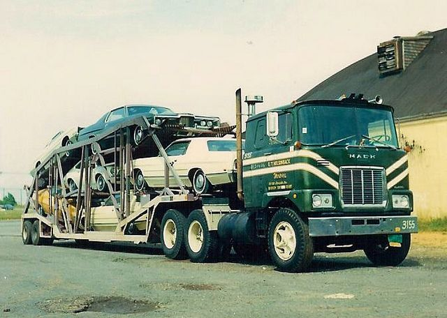 Mack F car hauler by PAcarhauler, via Flickr