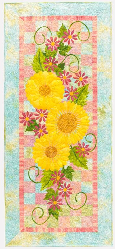 343 best sunflower quilts images on pinterest sunflower quilts summer floral table runner fandeluxe PDF
