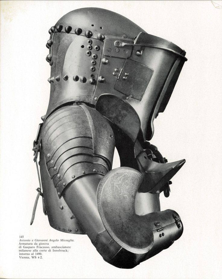 Italian Jousting armour, from 1480