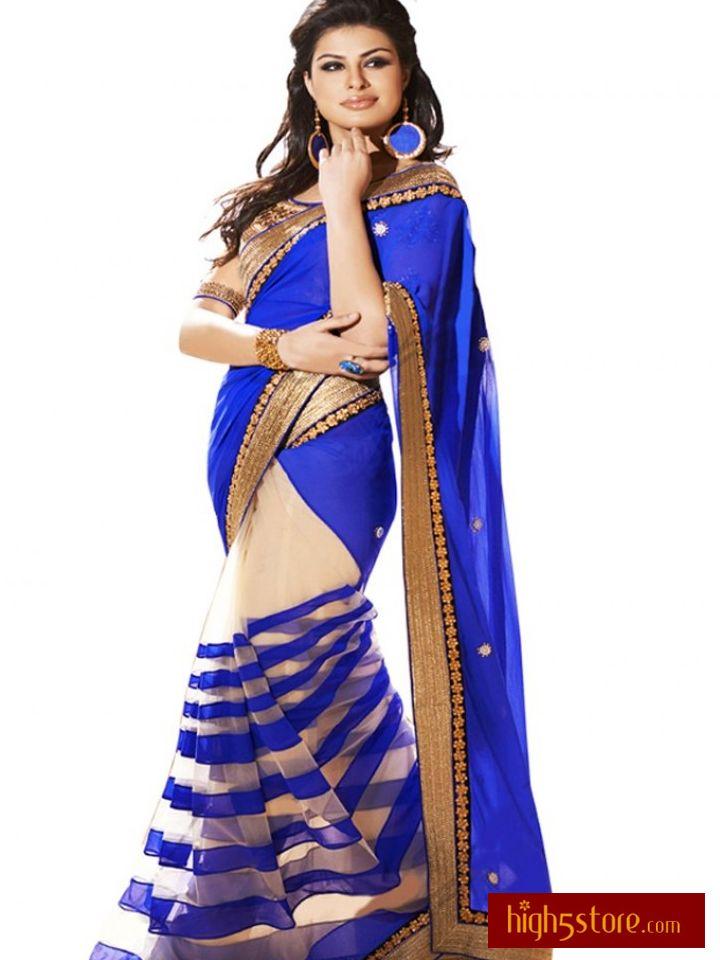 http://www.high5store.com/designer-sarees/240275-elegant-blue-georgette-half-half-designer-saree.html