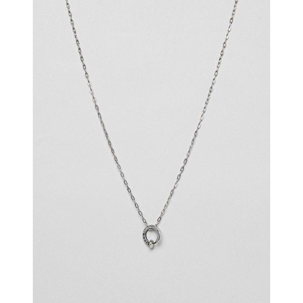 Icon Brand Metal Nail Pendant Necklace In Burnished Silver (1,250 PHP) ❤ liked on Polyvore featuring men's fashion, men's jewelry, men's necklaces, silver, mens silver necklace, mens pendant necklace, men's silver chain necklaces, men's silver pendant necklace and mens chain necklace