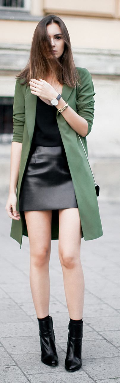 Fashion Agony Army Green Trench Fall women fashion outfit clothing stylish apparel @roressclothes closet ideas