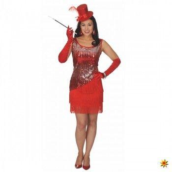 Charleston Kostüm Judy, Kleid rot kaufen